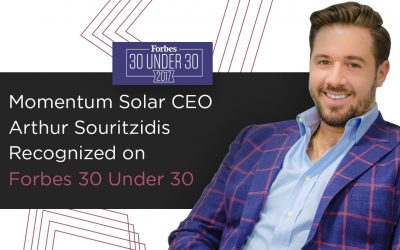 Momentum Solar CEO Arthur Souritzidis Recognized on Forbes 30 Under 30