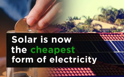 Solar Is Now the Cheapest Form of Electricity